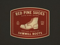 Red Pine Shoes Patch