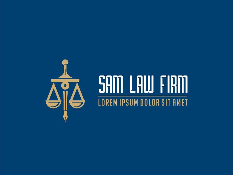 Sam Law Firm Logo Design
