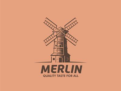 Windmill bakery logo design logodesign modern village winmilllogo bakerylogo silhouette bakery windmill logo