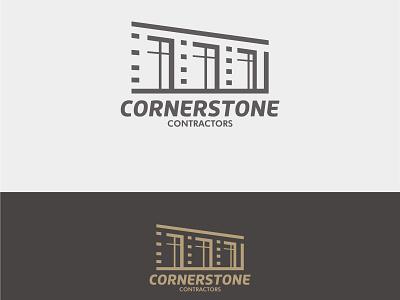 Corner Construction construction flat design vector logo