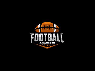 American football logo american rugby ilustration vector logo design sports logo league sport tournament competition american football football badge emblem logo