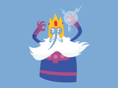 Ice King Magneto xmen vector illustration crossover adventure time