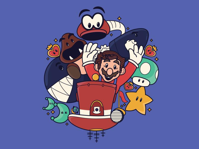 Mario Switch super mario fanart nintendo switch nintendo switch mario vector illustration