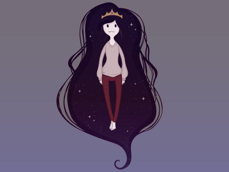 Marcey In Space illustrator marceline fanart adventure time vector illustration