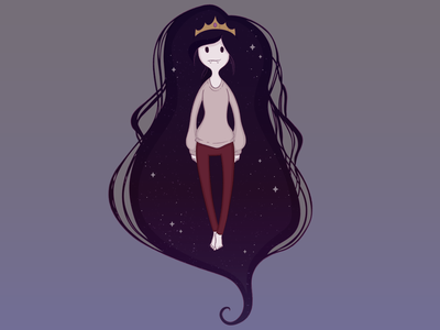 Marcey In Space illustrator marceline fanart adventure time vector illustration