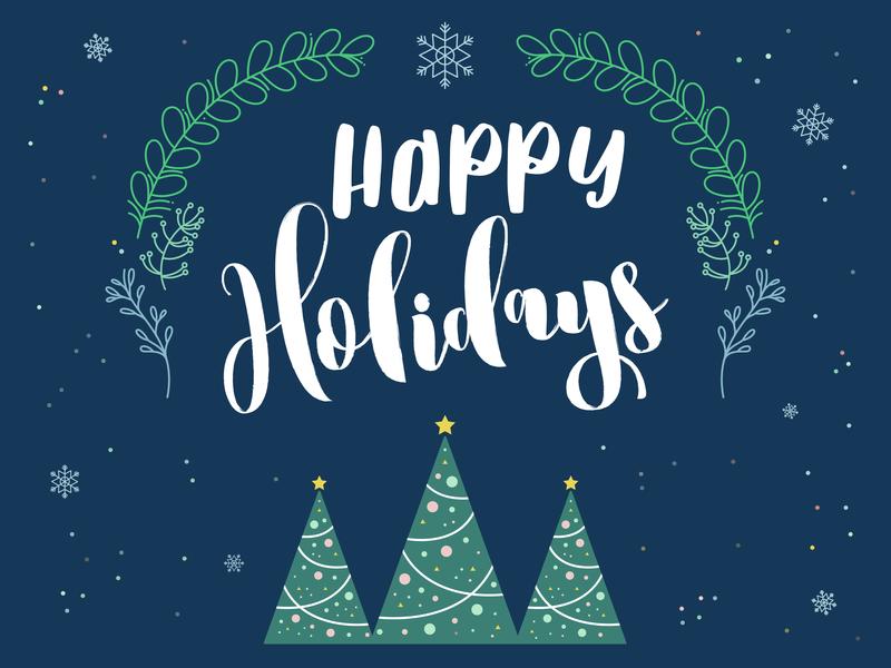 Happy Holidays Celebration ornaments snow tree holiday decoration decoration christmas holidays design illustrator vector illustration