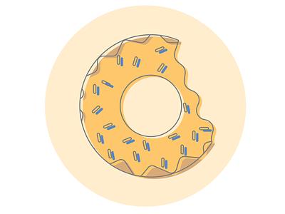 Donut sprinkles donut vector design illustration flat design