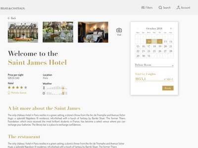 Hotel Page Concept
