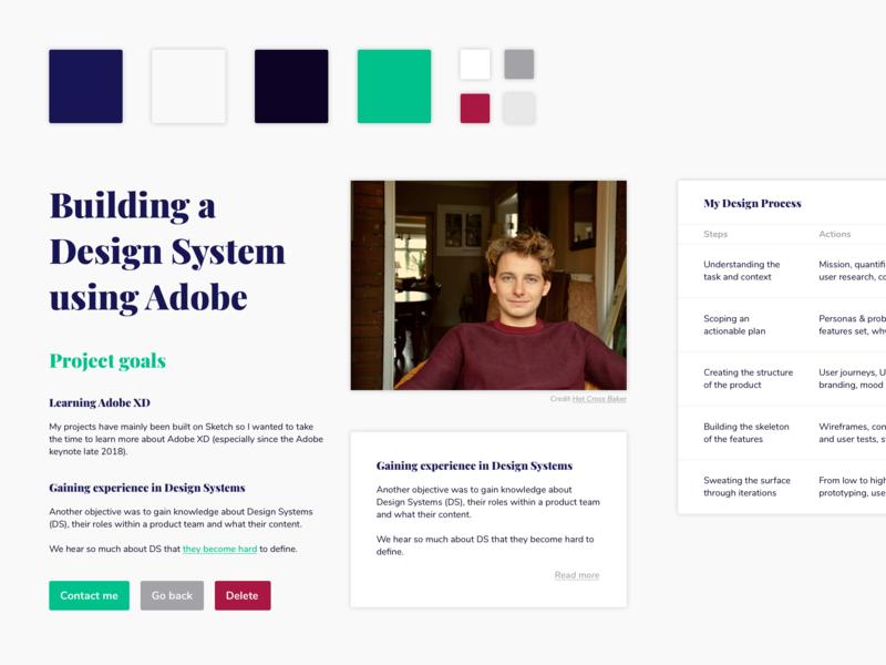 Styleguide portfolio design system ui kit styleguide