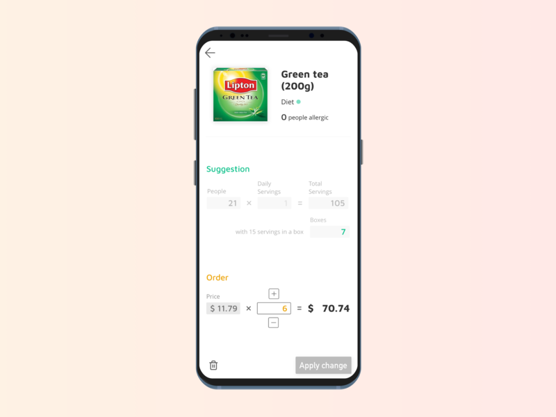 Food Ordering App recurring order waste management b2b food app order food app design app