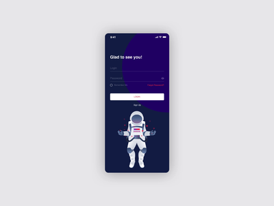 Mobile App - Smart Home temperature welcome page stars app smart home cosmos colorful checkbox input cards preloaders signin login animation illustraion smarthome mobile