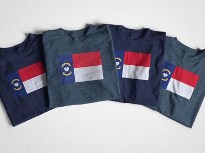 N❤️C banner graphic design flat flag heart tshirt cottonbureau north carolina