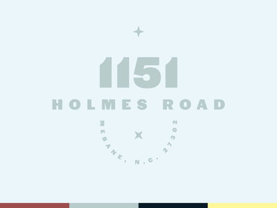 1151 Holmes flat graphic badge sans address north carolina star halyard type typopgraphy