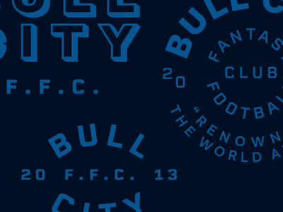 B. C. F. F. C. blue durham crest north carolina circles flat logo badge type