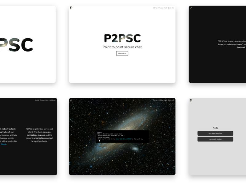 P2PSC modern p2psc web website ui design