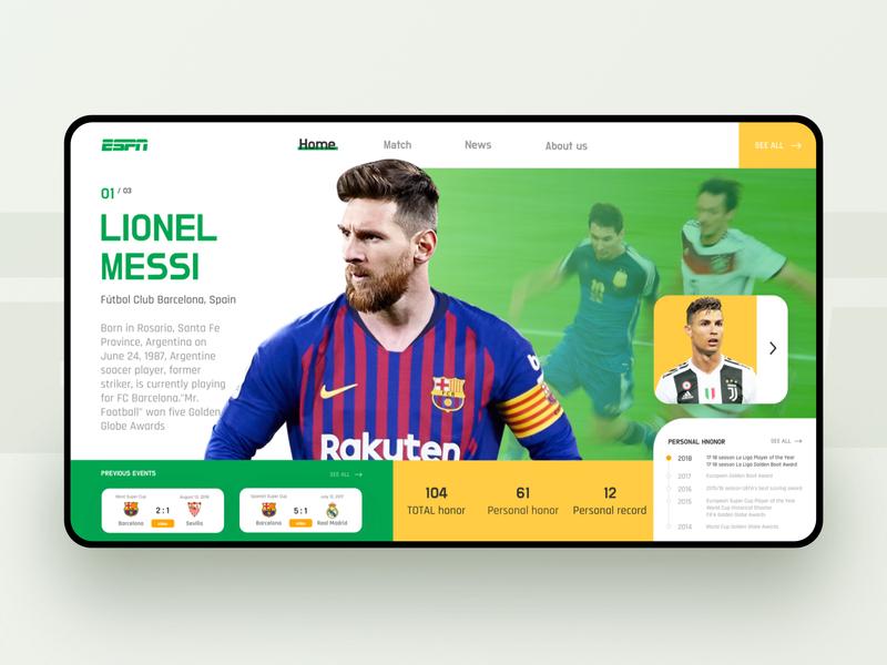 Espn Sports Web Dynamic Design By Mintsjun W For Agt On Dribbble