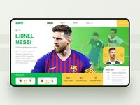 ESPN Sports Web Dynamic Design