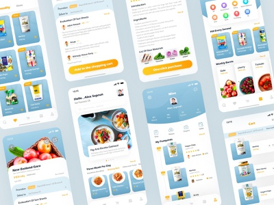 Circle Of Dining App fresh health price vip shop mine beef meal food foody ui ux app ingredients list introduction collection shopping cart mall