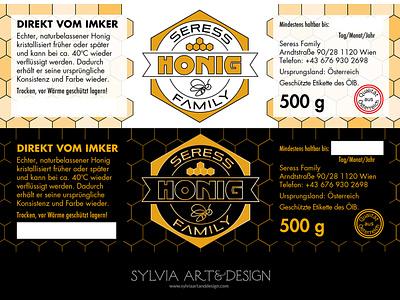 Seress Honig label design branding brand logo honey label