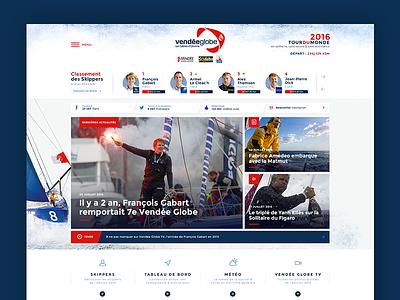 Vendée Globe 2016 redesign