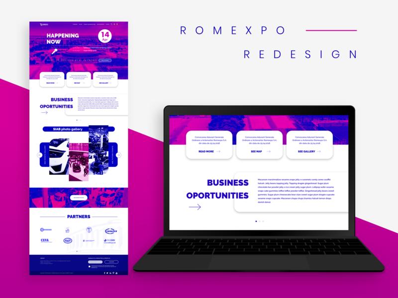 Romexpo Proposal ui  ux design interaction duotone web design ux ui