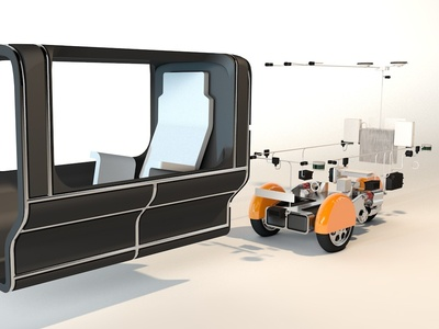 RoboTaxi modular model configurator motion graphics ui ux design 3dmodel 3d art 3dmodeling 3d animation 3d interaction