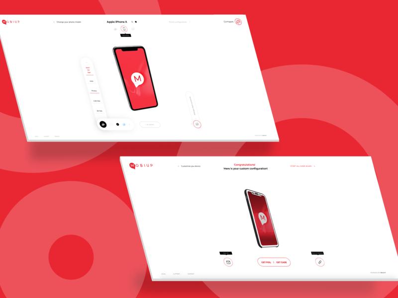 Mobiup - Use 3D configurator to choose a phone case motion graphics interaction design ui ux 3dmodeling 3d art 3dmodel 3d animation configurator 3d