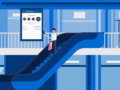 FAN Courier - video app presentation motion graphics character 2d animation 2d design illustration design