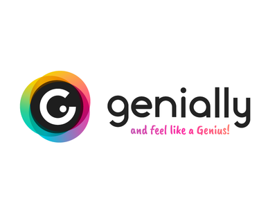 Genially lifestyle genius life icon website logo web gradient color vector illustration design branding
