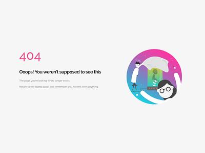 Genially 404 screen design notfound error 404 flat artdirection genially digital website web gradient color vector illustration design branding