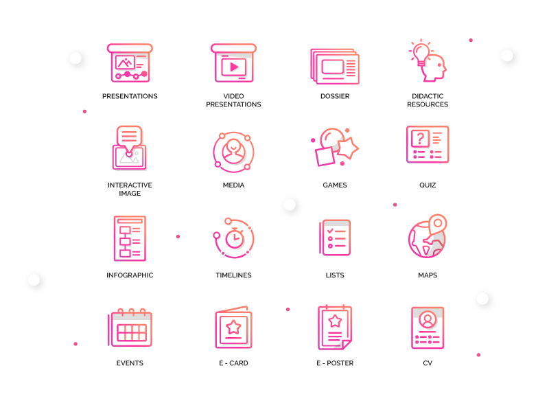 Genially Icons - Categories type typography genius app ui artdirection icon genially digital website web gradient color vector illustration design branding