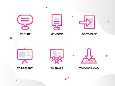 Some Genially web icon design app typography ux logo genius ui icon artdirection genially digital website web gradient color vector illustration design branding