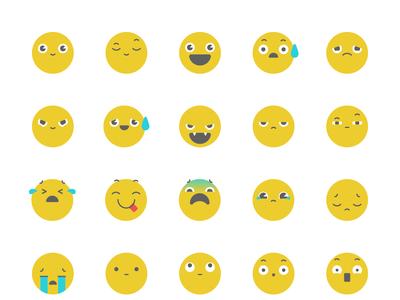 Genially emojis art direction flat app ui icon artdirection genially digital website web gradient color vector illustration design branding