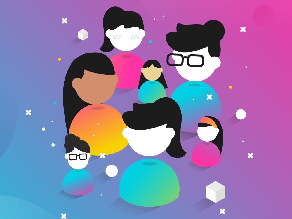 International women´s day at Genially women women empowerment artdirection genially digital website web gradient color vector illustration design branding
