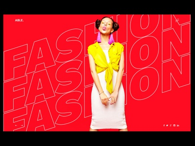 FASHION typography web design branding ux ui ux design ux challenge uiux uidesign