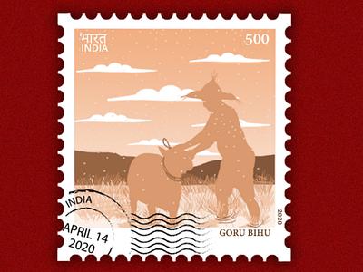 Postal Stamp rongali bihu postal stamp