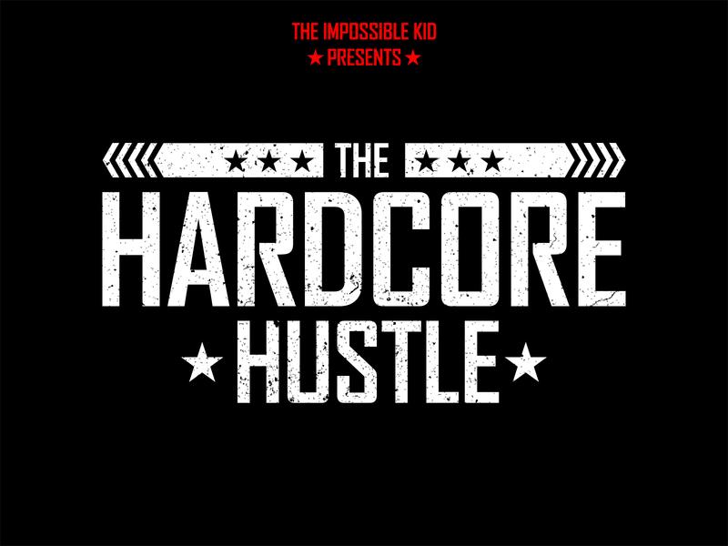 Hardcore Hustle flat type web animation hello branding invite follow me title typography graphic shots vector movie illustration graphic design photoshop illustrator design art