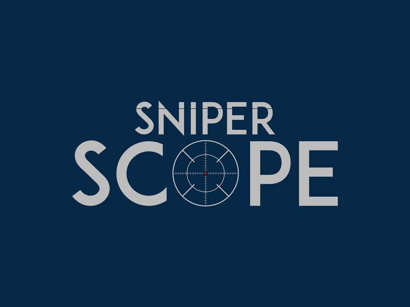 Sniper Scope animation lettering follow me hello invite shots icon typography logo dribbble branding flat vector graphic photoshop illustration graphic design illustrator design art
