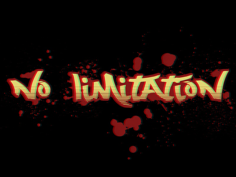 No Limitation flat typography shots vector graphic photoshop illustration graphic design illustrator design art