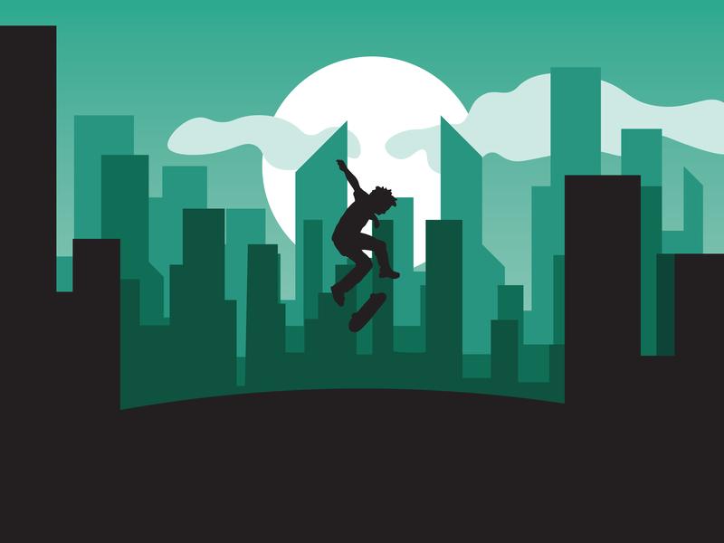 Skate follow shots logo flat branding invite vector graphic photoshop illustration art graphic design illustrator design