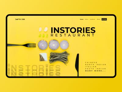Instories Restaurant Page