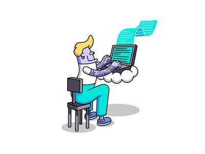 Copy Writing Illustration for J&R Agency thick lines social media illustrator vector art vector illustration bright color graphic design vector procreate ipadpro graphic  design adobeillustrator illustration