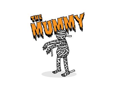 The Mummy halloween autumn groovy illustrator bright color vector illustration procreate ipadpro adobeillustrator illustration vector