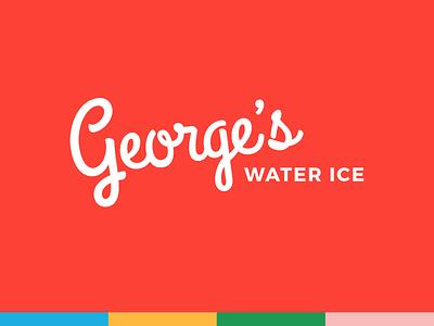 George's // Logo summer logo branding water ice