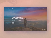 Spaced - Trip booking landing page concept