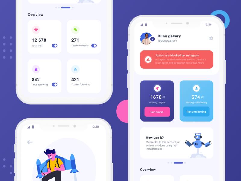 Social Bridge app minimal flat application ui design app