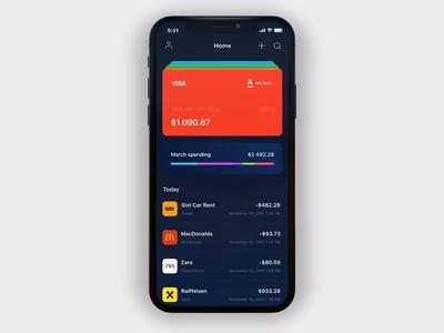 💸 Alternative Banking app animation motion banking app ux inspire bank banking application app ui flat
