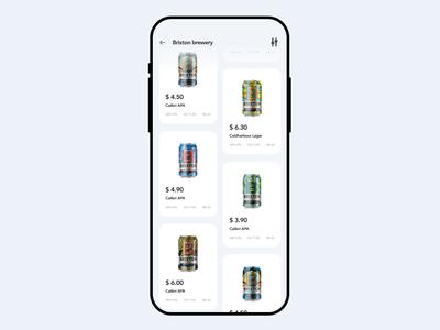 Brewery app 🍺 principle figma motion design motion application flat minimal design app ux ui