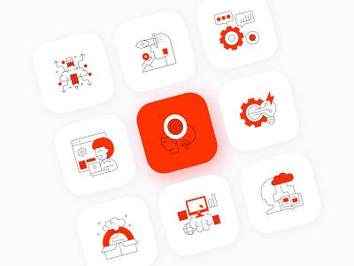 MEZURE iconography ui design icons design