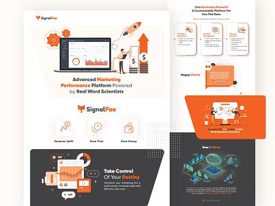 SignalFox iconography illustration infographic design corporate infographics